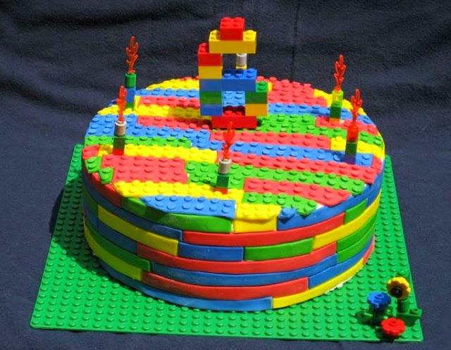 Torta Lego mattoncini Classic