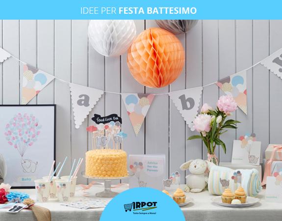 Idee per festa battesimo decorazioni e addobbi fai da te - Idee per addobbi battesimo ...