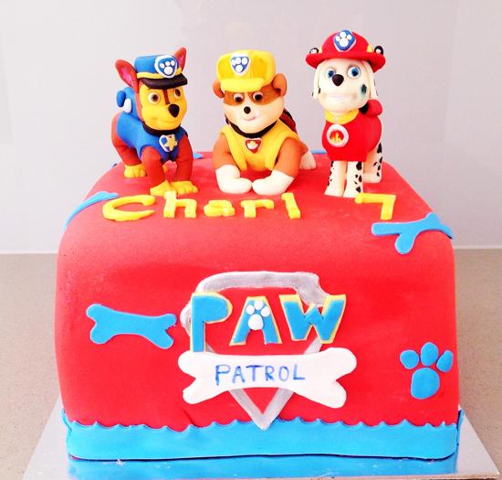 Torta paw patrol ricette in pasta da zucchero dei