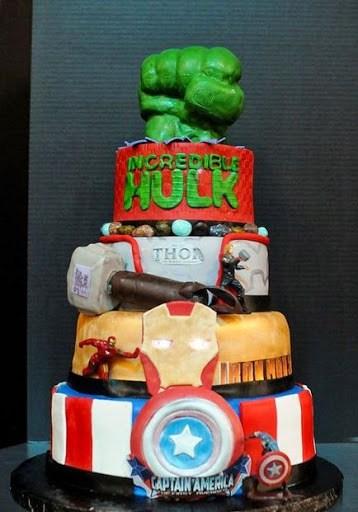Torta avengers age of ultron 10 ricette dei vendicatori for Decorazioni torte 2d