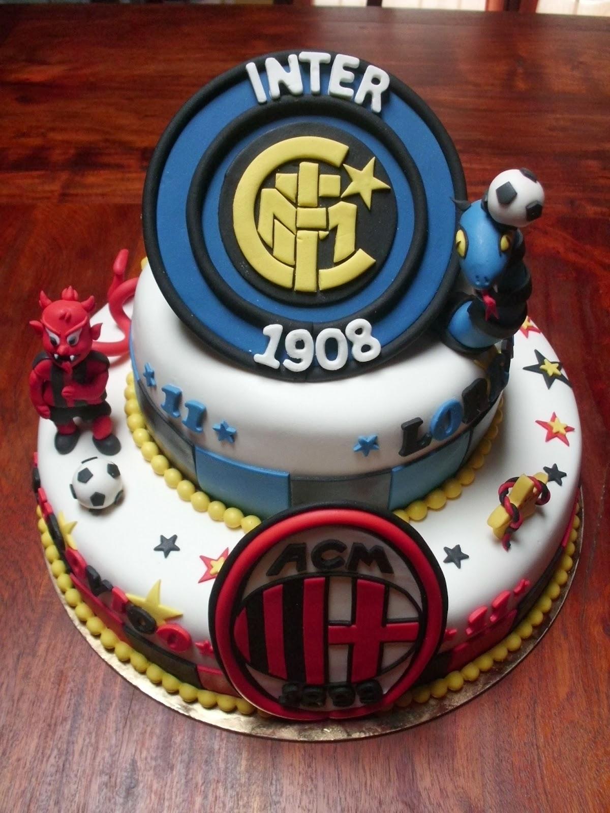 Torta derby Inter , Milan