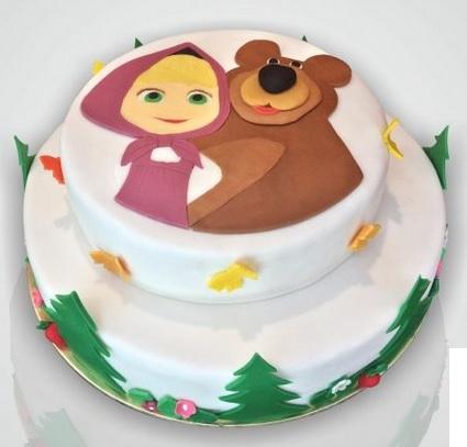 Torta masha e orso torta di compleanno for Decorazioni torte 2d
