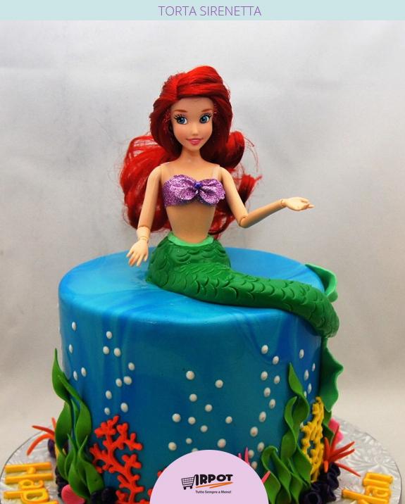 Super Torta Sirenetta Ariel | Le 10 torte più belle della Sirenetta MK54