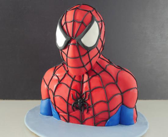 torta spiderman amazing 3d