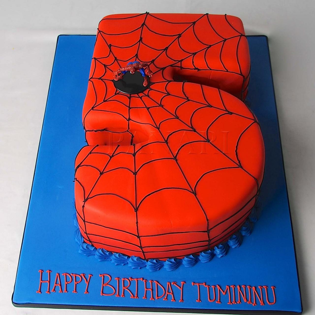Torta Spiderman 5 anni